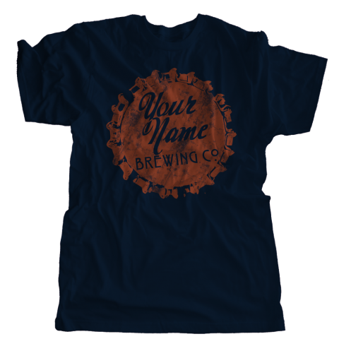 Custom Name Bottle Cap Brewery T-Shirt